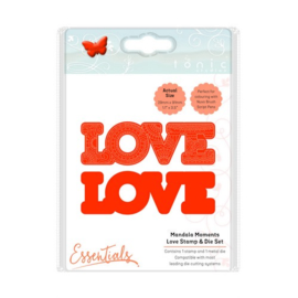 115631/1542 Tonic Studios mandala moments love stamp & die set 1542E