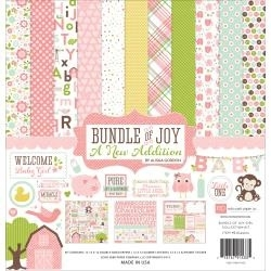 "125645 Echo Park Collection Kit Bundle Of Joy/A New Addition - Baby Girl 12""X12"""