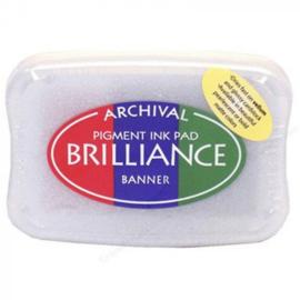BR3-306 Brilliance ink pad 3-color banner