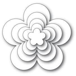 633300 Poppystamps Metal Dies Flora Bloom Solids Set