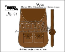 115634/0851 Crealies X-tra no. 31 Rugzak CLXtra31 56 x 72 mm