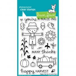 LF971 Lawn Fawn Clear Stamps Happy Harvest