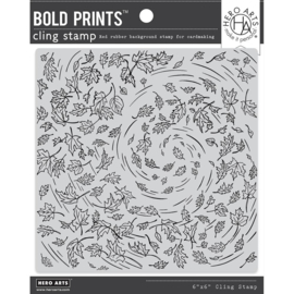 663178 Hero Arts Cling Stamp Leaves In The Wind Bold Prints