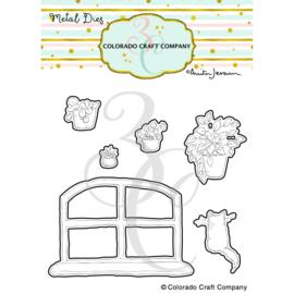 652984 C3AJ452D Colorado Craft Company Metal Die Set New Day Windowsill-By Anita Jeram