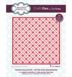 CED3137 The Festive Collection Netted Star Background