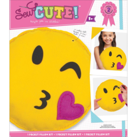 200503 Emoji Wink Pillow Sew Cute! Felt Kit