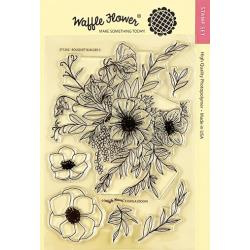 "603147 Waffle Flower Crafts Clear Stamp Bouquet Builder 5 5""X7"""