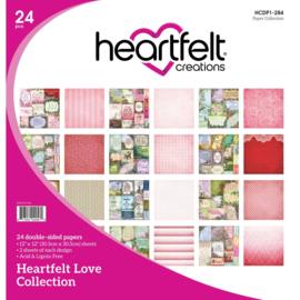 "290971 HCDP1 284 Heartfelt Creations Double-Sided Paper Pad Heartfelt Love 12""X12"" 24/Pkg"