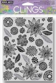 HA-CG524 Hero Arts Cling Stamps Leaves And Flowers