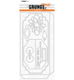 SL-GR-CD27 StudioLight Cutting Die Envelope slimline Grunge Collection nr.27