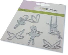 115633/0828 CraftEmotions Die elfen 3 elfen Card 11x9cm - 82 mm
