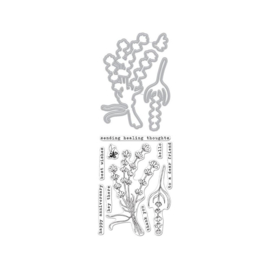 """620577 Hero Arts Clear Stamps 4""""X6"""" Hero Florals Lavender Bunch"""