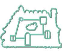 LDRS8175 LDRS Creative Gingerbread House Set Metal Dies