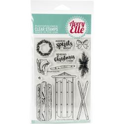 "604465 Avery Elle Clear Stamp Set Alpine Christmas 4""X6"""