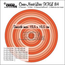 115634/0184 Crealies Crea-Nest-Lies XXL no 84 gladde cirkels halve cm