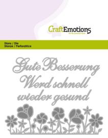 115633/0409 CraftEmotions Die Tekst - Gute Besserung