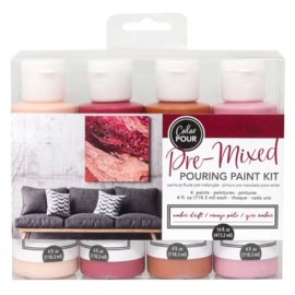 348499 American Crafts Color Pour pouring paint kit amber