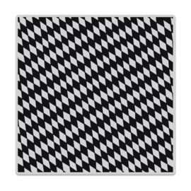 """656303 Hero Arts Cling Stamps Slanted Checkerboard Bold Prints 6""""X6"""""""