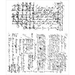 CMS-241 Tim Holtz Cling Rubber Stamp Set Ledger Script