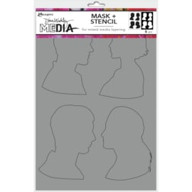"MDSM 74885 Dina Wakley Media Stencils + Masks Profiles 6""X9"""