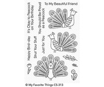 CS-313 My Favorite Things Playful Peacock Clear Stamps