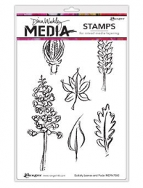 511602  Dina Wakley Media Cling Leaves & Pods