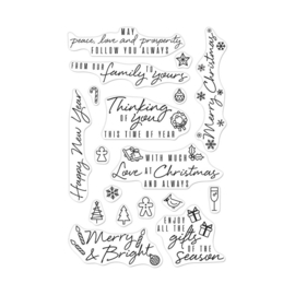 "605496 Hero Arts Clear Stamps Holiday Messages & Icons 4""X6"""