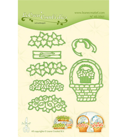 45.3561 Lea'bilitie Cutting/Emb.  Flower basket