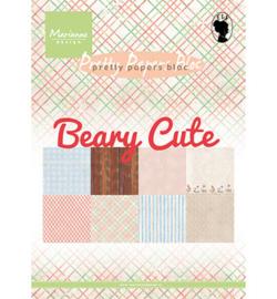 Pk9145 Marianne Design Pretty Papers Beary cute A5