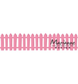 COL1423 Marianne Design Collectables White picked fence