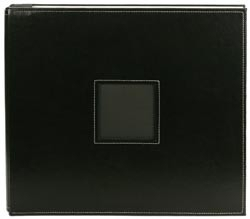 "340508 Leather Postbound Album 12""X12"" Black"