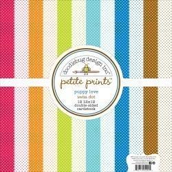 "383587 Doodlebug Petite Prints Cardstock Pack Puppy Love 12""X12"""
