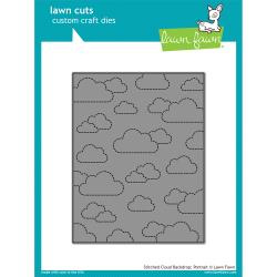 LF1424 Lawn Cuts Custom Craft Die Stitched Cloud Backdrop: Portrait