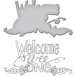 SDS033 Spellbinders Stamp & Die Set Welcome Wee One