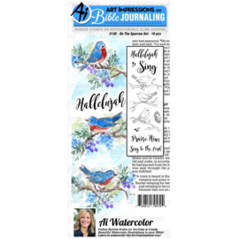 584621 Art Impressions Bible Journaling Watercolor Rubber Stamps On The Sparrow