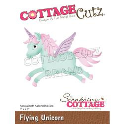 "CCE602 CottageCutz Dies Flying Unicorn 3""X2.3"""
