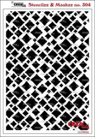CLSTM304 Crealies Stencilzz/Maskzz Vierkanten ruwe randen
