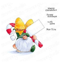 606573 Stamping Bella Cling Stamps Gnome W/A Candy Cane