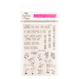 "CS517 My Favorite Things Vault Clear Stamps Dashing Deer 4""X6"""