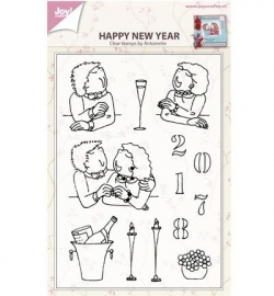 6410/0432 Stempel Happy new year by antoinette