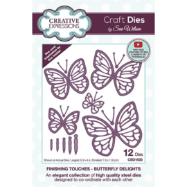 CED1533 Creative Expressions Craft die finishing touches Butterfly delights