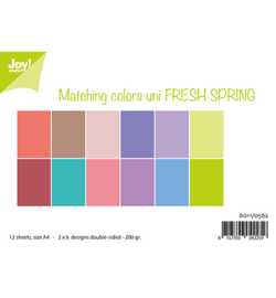 6011/0562 Papier Set Matching Colors uni Fresh Spring A4