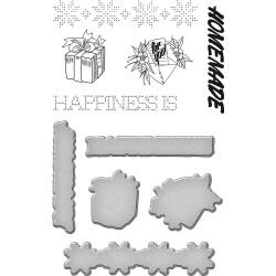SDS076 Spellbinders Stamp & Die Set Happiness