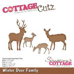 "204709 CottageCutz Die Winter Deer Family 1"" To 2.9"""