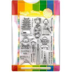 596486 Waffle Flower Stamp & Die Set Konnichiwa