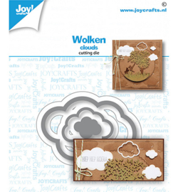 6002/1608 Joy! Crafts / Noor! Design Stansmal  Wolkjes