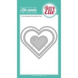 524748 Elle-Ments Dies Scalloped & Pierced Hearts