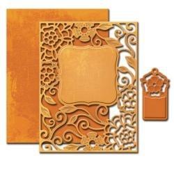 S4502 Spellbinders Nestabilities A2 Card Creator Dies Tudor Rose