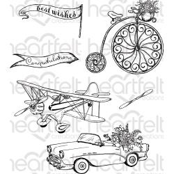 "236027 HCPC3800 Heartfelt Creations Cling Rubber Stamp Set Young At Heart 1.5"" To 4"""