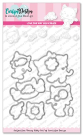 CDJD-0015 CarlijnDesign Snijmallen Penny Kitty Cat